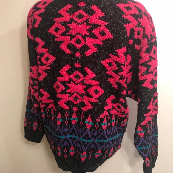 Vintage Sweaters - Vintage 90's abstract sweater cardigan