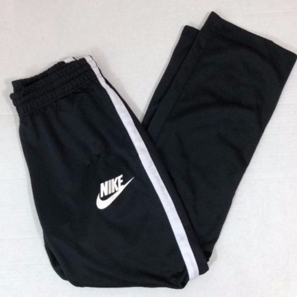 NIKE Women's Sweatpants Black White Track Pants
