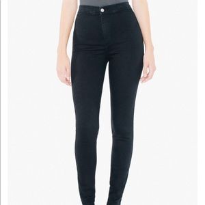 American Apparel Black skinny jeans NEVER WORN
