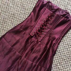 BCBG Burgundy Gown