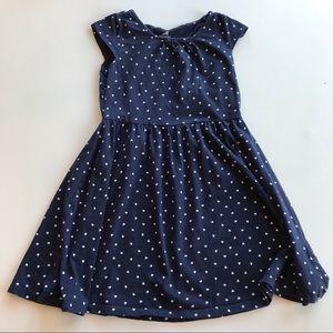 H&M Navy & White Heart Dress Cute! Size M 6 8