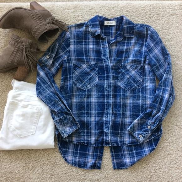Bella dahl bella dahl plaid button down shirt from angie for Bella dahl plaid shirt