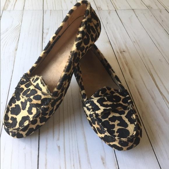 2fe5d9ff05d NWOT Vionic leopard calf hair loafers