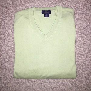 Brooks Brothers light green v neck sweater S