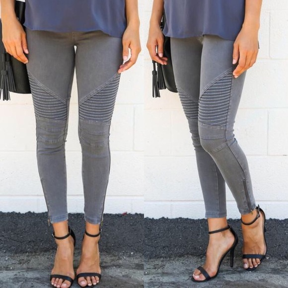 attractivefashion how to purchase attractive colour Charcoal Grey Moto Jeggings
