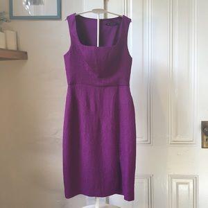 Black Halo purple sleeveless sheath dress 4