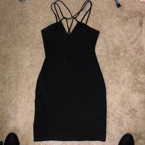 Black Strappy Cocktail Dress