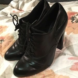 On Sale! Black Lace-Up Pumps by Isola Size 6