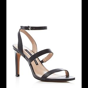 French Connection Lilly Metallic Strappy Sandals