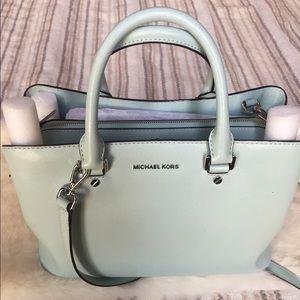 f15ba3cd6d7402 Michael Kors Bags | Savannah Large Satchel Celadon Mint Green | Poshmark