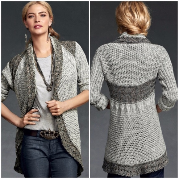 CAbi Sweaters - CAbi knitted shadow circle long drape cardigan S a62515c58