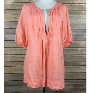 Lane Bryant 100% linen casual tunic top