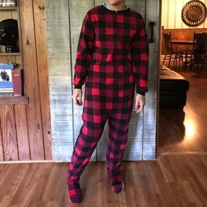Fleece footed pajamas