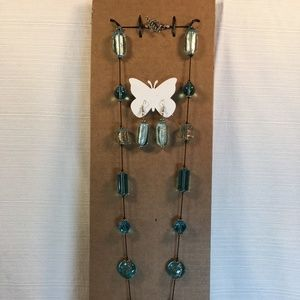 """Jewelry - Handmade 36"""" Necklace and  Earrings"""