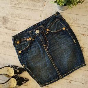 True Religion Skirts - NWOT True Religion Denim Mini Skirt