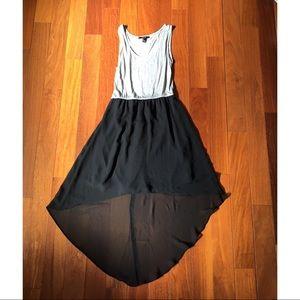 Black + Gray High Low dress