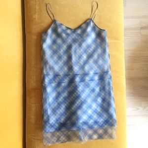 Marc Jacobs runway blue gingham organza dress
