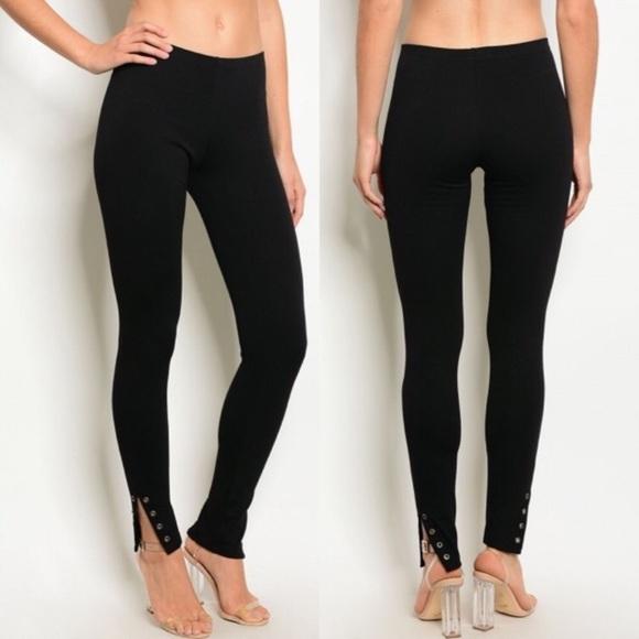 Activewear Bottoms Cooperative Victoria's Secret Sport Knockout Black Gray Cutout Leggings Size Medium Euc