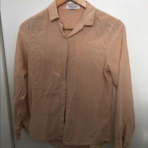 Everlane Blush Silk Buttondown XS