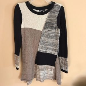 Style & Co. Patchwork Sweater Tunic Top