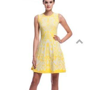 Shoshanna IKAT Becky Sweater Dress in Lemon Drop