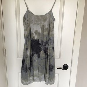 Fei Anthropologie Dresses - Fei silk watercolor dress, size 10.
