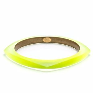 Alexis Bittar Square Lucite Yellow Bangle