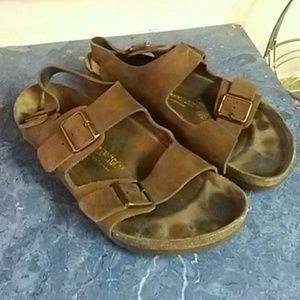 Men's Brown Birkenstock Sandals - Size 46/M13