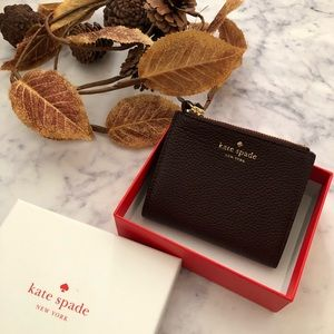 Kate Spade Small Malea Burgundy wallet