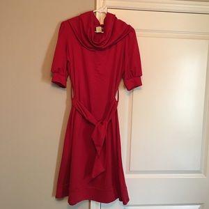 Shabby Apple red cowl neck dress