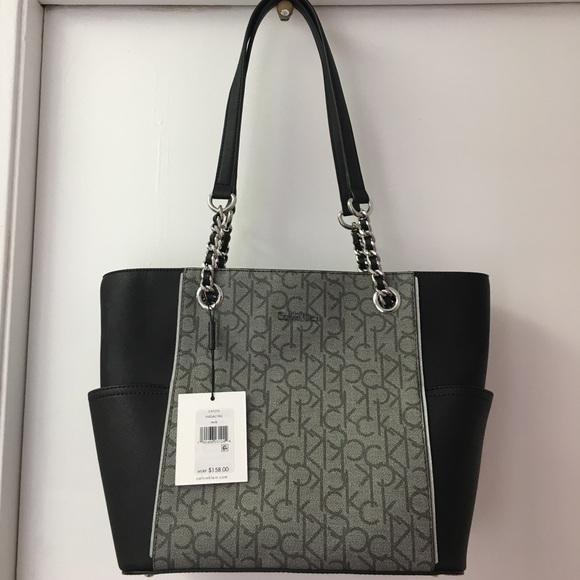 d0d587569dfb Calvin Klein Bags | Price Dropck Hayden Signature Chain Totr | Poshmark calvin  klein backpack price