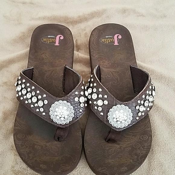 f670b17f1eff5 Justin Boots Shoes - Justin flip flops