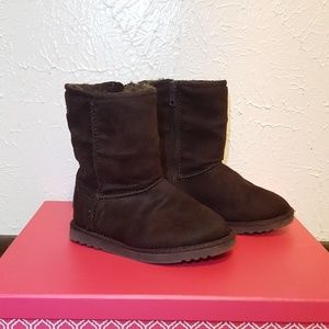 Kids Brown Fur Lined Boots