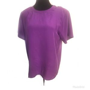 Vintage Tops - Vintage purple silk blouse top