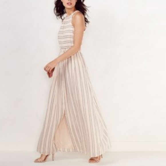 ff13cbf72 LC Lauren Conrad Dresses & Skirts - SALE LC Lauren Conrad Pink Stripe Linen  Dress
