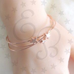 T&J Designs Rose Gold Star Cuffs Set of 3