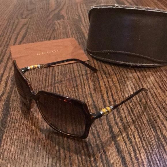 314be5de3d0 Gucci Accessories - Gucci Havana Bamboo Sunglasses