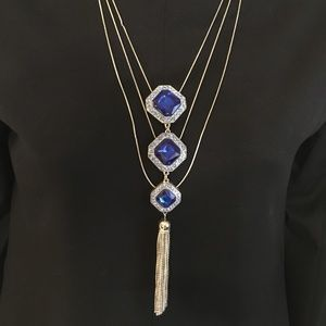Jewelry - Silver and Royal Blue Necklace
