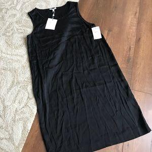Joie black silk shift dress XS NWT