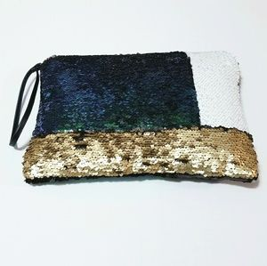 Story of Lola Sequin Colorblock Clutch