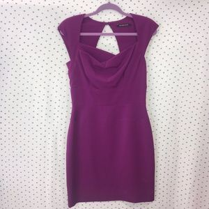 Black Halo Sleeveless Purple Dress