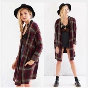 [Unif] Urban Outfitter's Cardigan Sweater Plaid