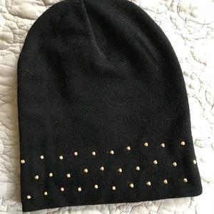 Black studded beanie