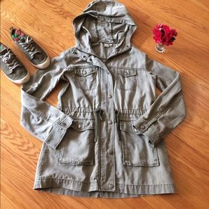 "🌺 Nordstrom ""BP"" Khaki Utility Jacket Misses Lg!!"