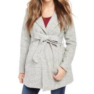 Motherhood Maternity Hooded Boucle Jacket