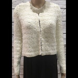 Frenchi white coverup blazer jacket Size Small
