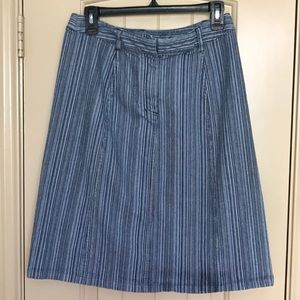 Retro/Vintage Christopher & Banks Striped skirt