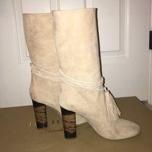 BURBERRY Winningham Suede Tassel boots