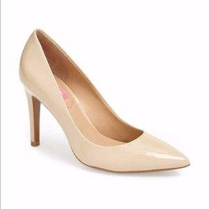 NIB Isaac Mizrahi Heels Patent Light Natural
