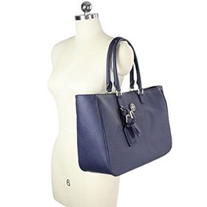 Tory Burch Large Navy Tote